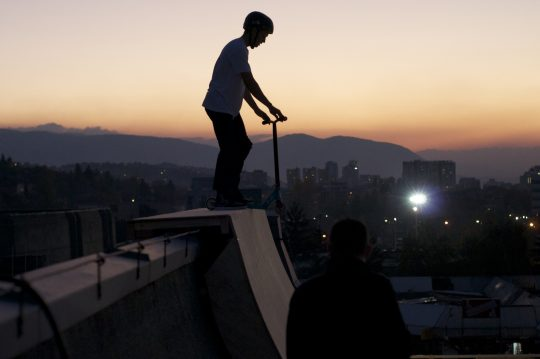 scooter sunset shot-rooframp